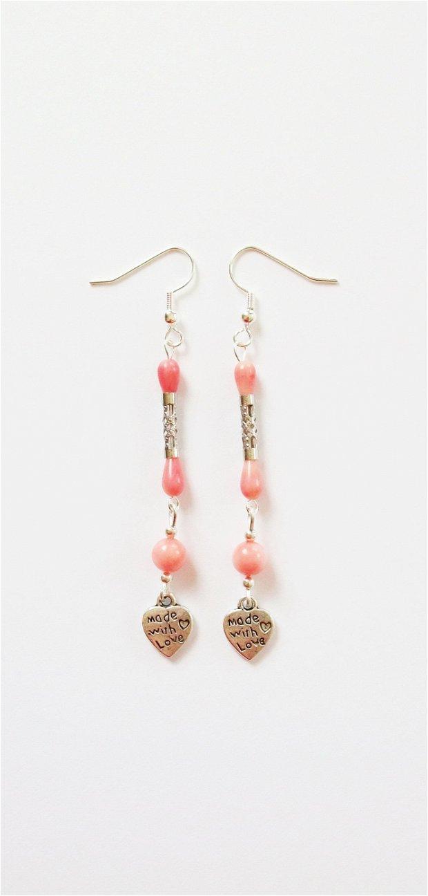 Cercei coral roz 420