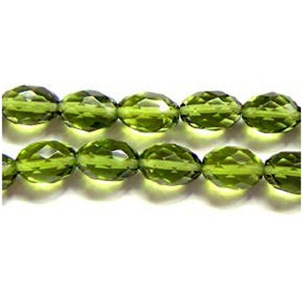 Cristal verde olive 10x14mm