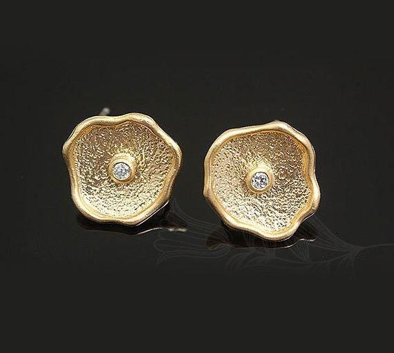 Tortite cercei placate cu aur 13 mm