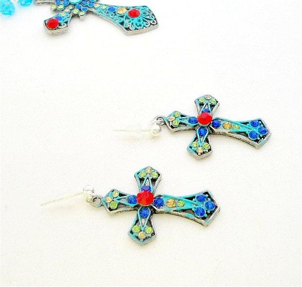 Cercei ''Turkis Cross''