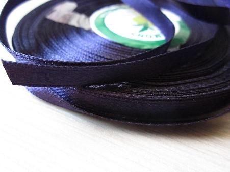 Panglica saten mov, latime 6 mm