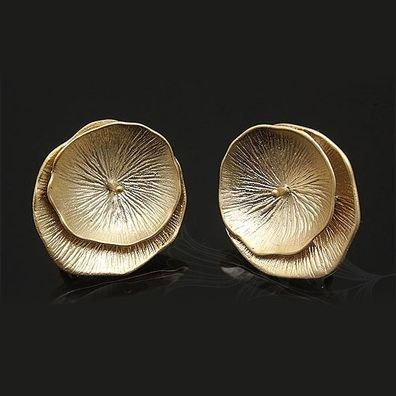 Tortite cercei placate cu aur - dimensiune 16 x 18 mm