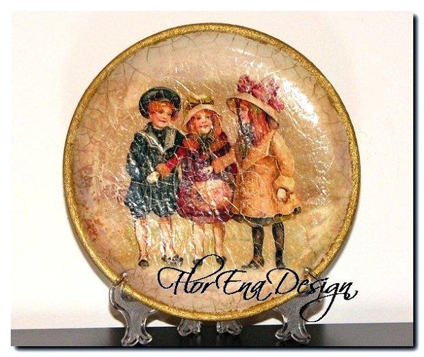 D0201 Farfurie decorativa din lemn 14cm