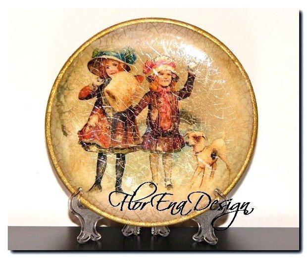 D0203 Farfurie decorativa din lemn 14cm