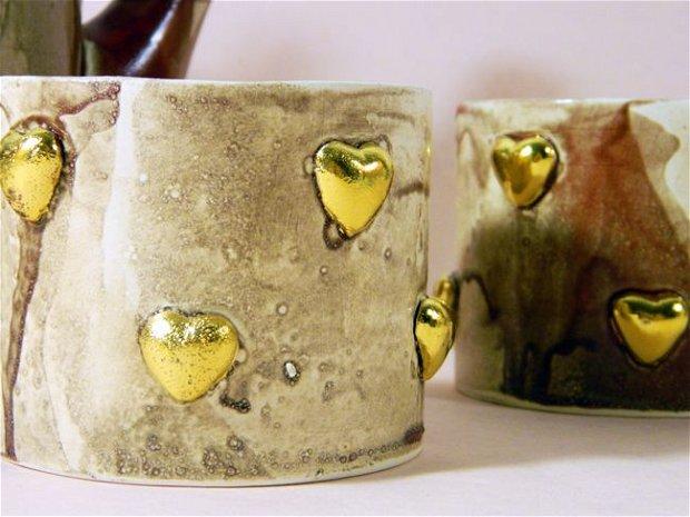 Set pentru ceai Vintage Hearts