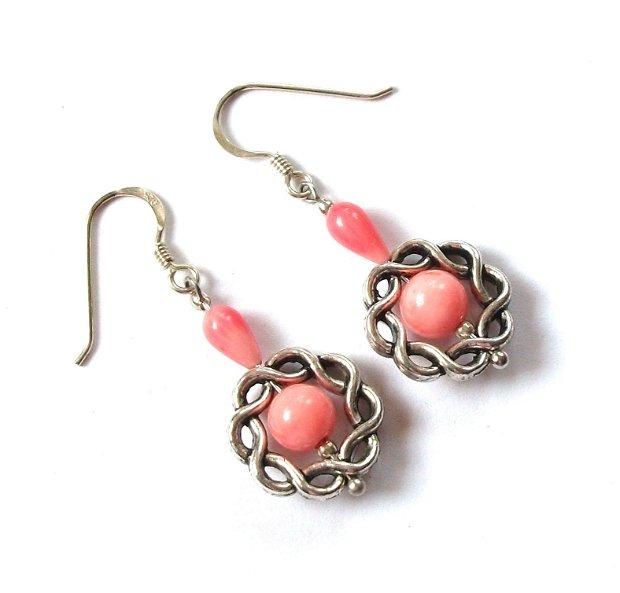 Cercei coral roz 316