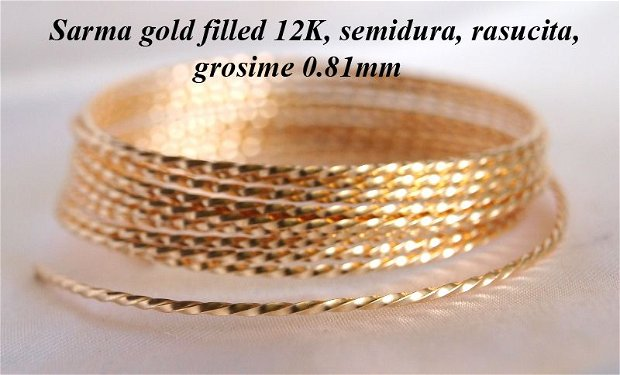 Sarma gold filled 12k, rasucita, 0.81mm (0.1)