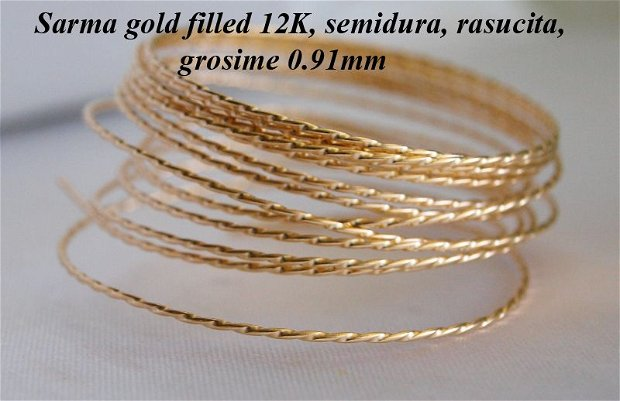 Sarma gold filled 12k, rasucita, 0.91mm (0.1)