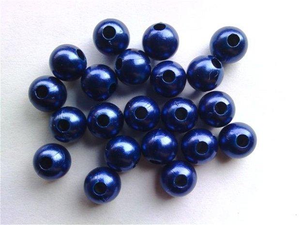 LMA701 - margele acrilice albastru inchis