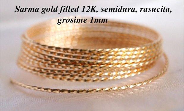 Sarma gold filled 12k, rasucita, 1mm (0.1)