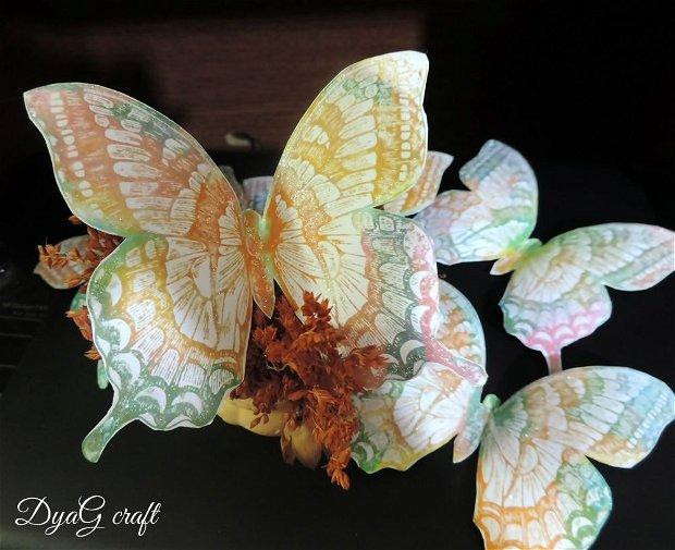 Fluturi decorativi Uriasi 10,5cm