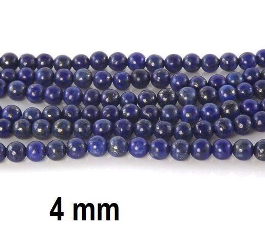 Lapis Lazuli natural, 4 mm