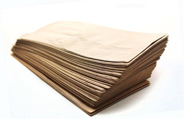 Set 20 buc pungi hartie natur - 8.5 x 19 cm