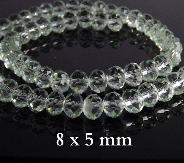 Cristale fatetate, 8x 5 mm