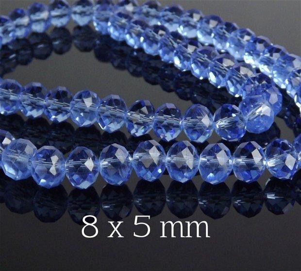 Cristale fatetate, 8 x 5 mm