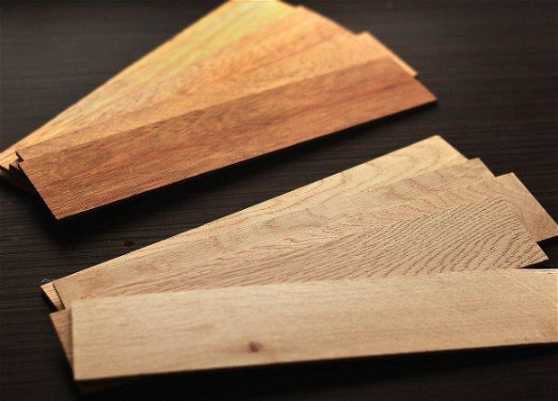 LEMN stejar placute tratate cu ulei de in  3 buc x 20.2 x 6.8 cm