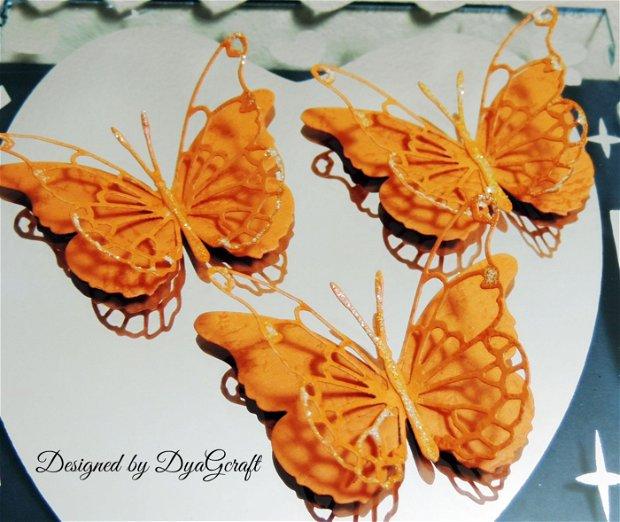 Fluturi Darla orange 10 buc