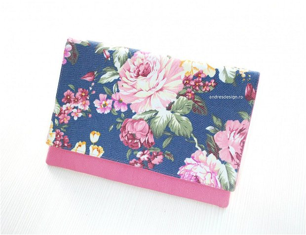 Geanta Plic Trandafiri Roz