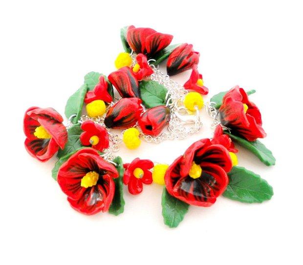 Hibiscus rosu - colier