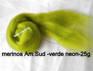 lana fina Am.Sud-verde neon-25g