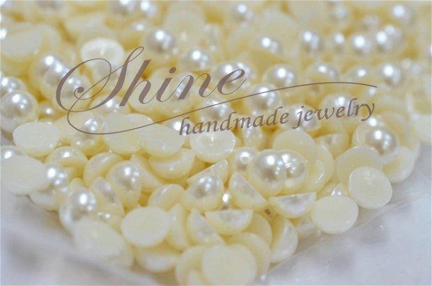 Cabochon perla, acril, 8mm