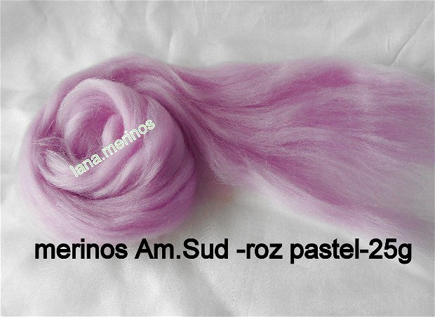 lana fina Am.Sud-roz pastel-25g