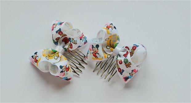 Set 2 agrafe Minnie&Mickey la scoala