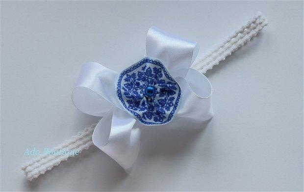 Bentita elastica cu motive albastre