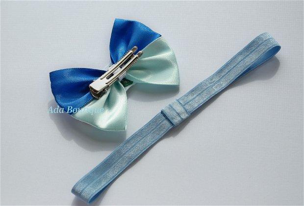 Bentita elastica bleu 2in1 cu creioane colorate
