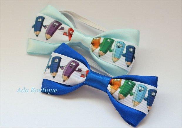 Mini papion cu creioane colorate  bleu