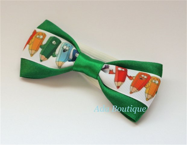 Mini papion cu creioane colorate  verde