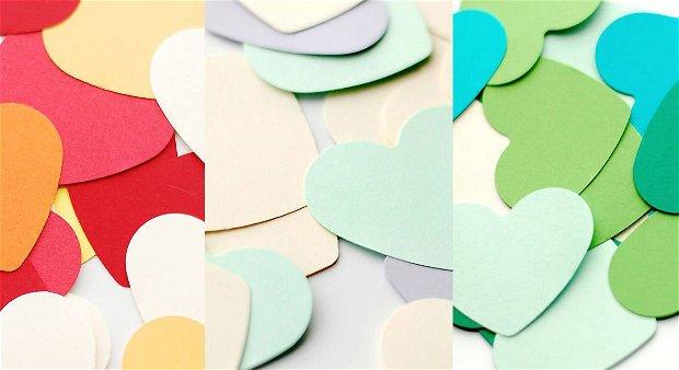 Set 100 Inimioare  din carton colorat  -- Alege-ti culorile !