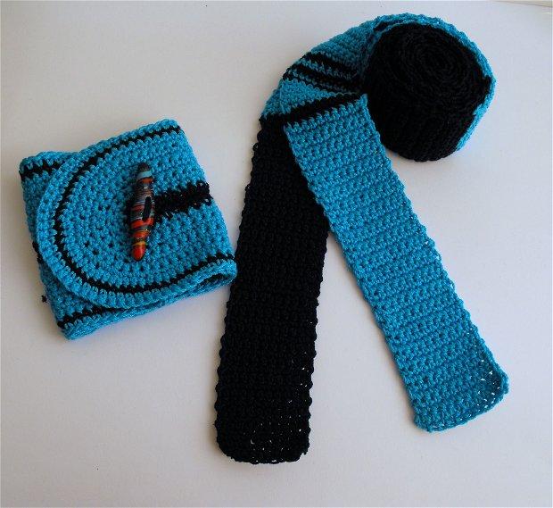 Cuff crochet bracelets - turquoise