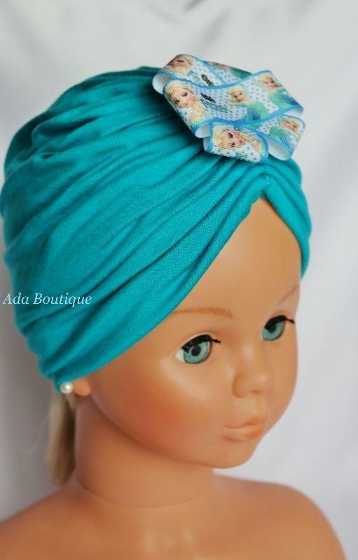 Turban dublu turquoise Elsa