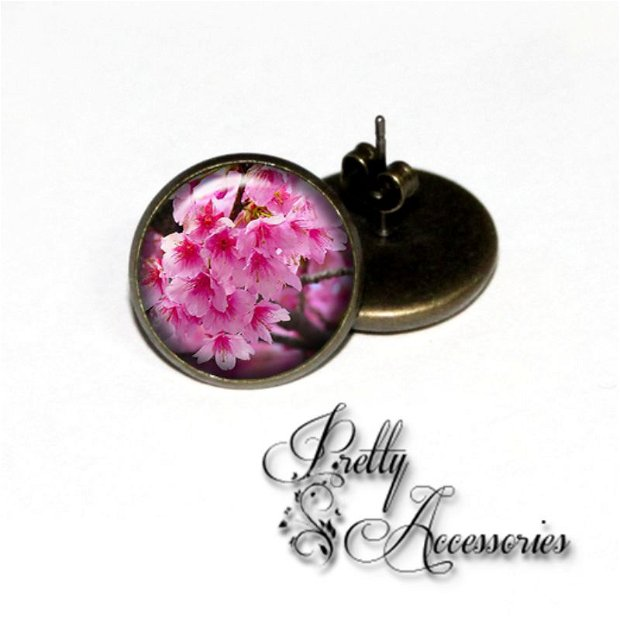 C001 - Cherry blossom - cercei surub - cercei dop