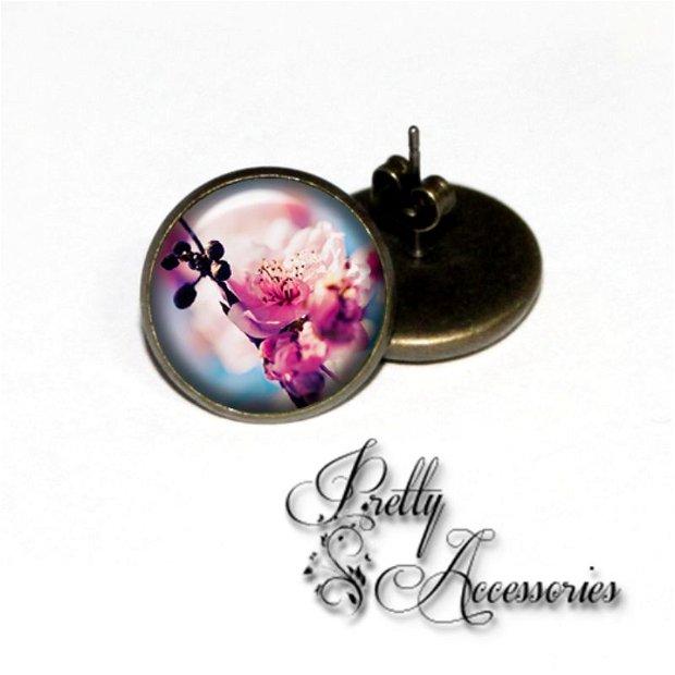 C004 - Cherry blossom - cercei surub - cercei dop
