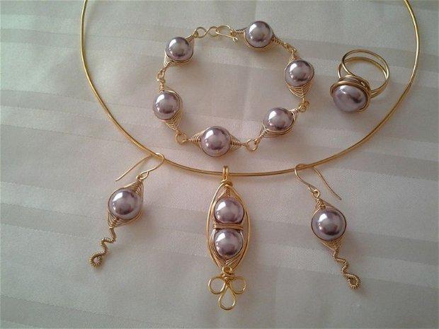Set perle Mallorca mov