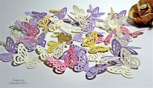 Fluturi confetti dantelati