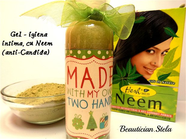 Gel igiena intima, natural cu Neem (dezinfectant, antiinflamator, anti-Candida)