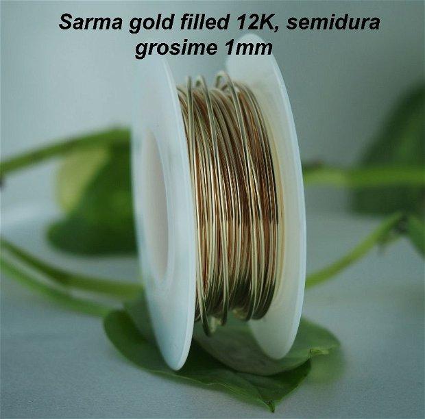 Sarma gold filled 12K, semidura, 1mm (0.5)