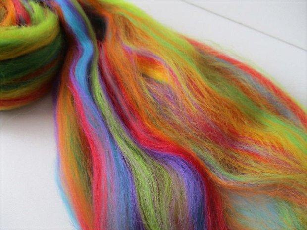 lana merinos-curcubeu-50g