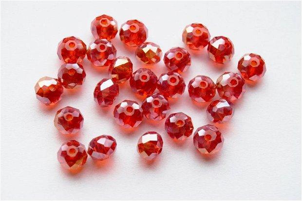 LMS700 - margele sticla rosii fatetate