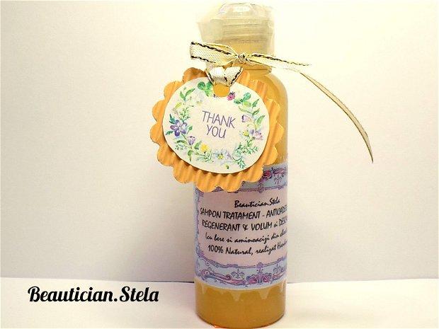 SAMPON TRATAMENT - ANTICADERE PAR/ REGENERANT & VOLUM si DESCALCIRE (cu bere si aminoacizi din cheratina)