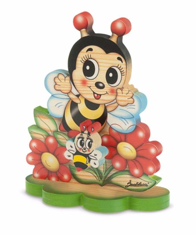 Cutie Muzicală Cu Bază Albină Cu Flori