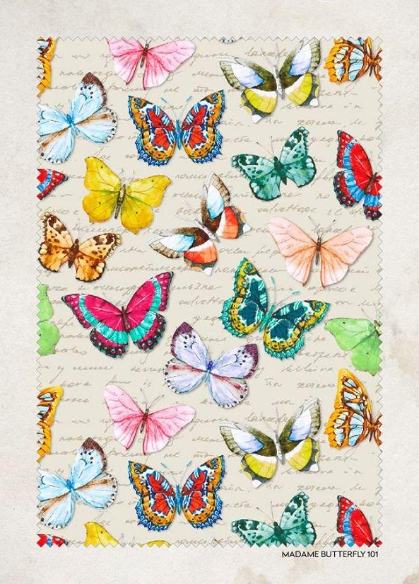 Shabby Butterflies - 150cm - Lonato - Vintage