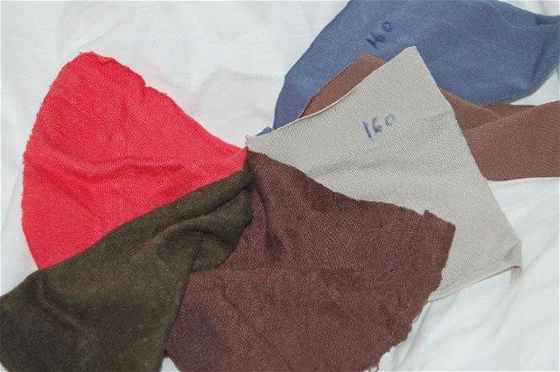 Tricot elastic - ciclam, verde, maro