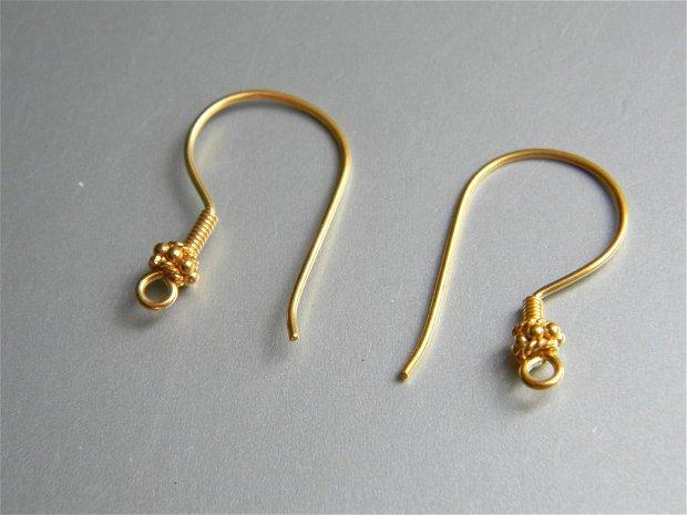 Tortite cercei argint aurit (vermeil) - 4024V