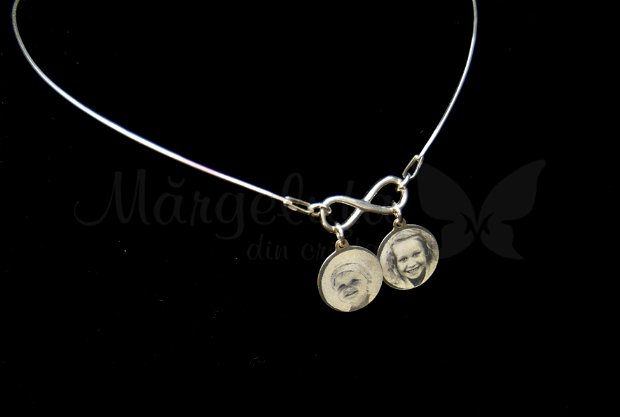 Lantisor/colier personalizat  argint - My love