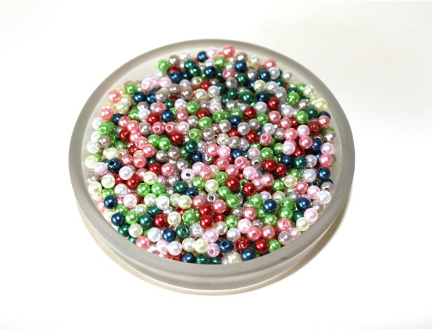 100 x Perle colorate 4 mm