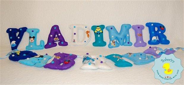 Litere decorative cu personaje Disney